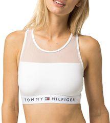Tommy Hilfiger Dámska športová podprsenka Sheer Flex Cotton Bralette UW0UW00012-100 White