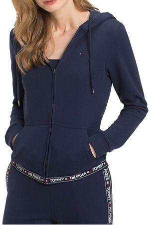 Tommy Hilfiger Damska bluza z kapturem Authentic Hood y Hwk UW0UW00582-416 Navy Blaze r (rozmiar S)