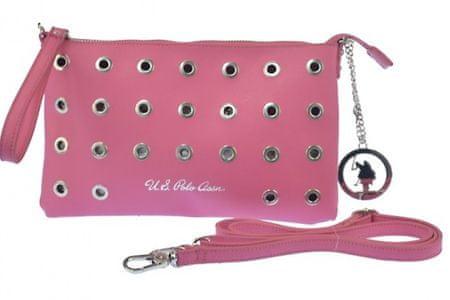 U.S. Polo Assn. ženska večerna torbica, roza
