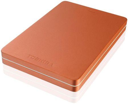 TOSHIBA Canvio Alu - 500GB, metalická červená (HDTH305ER3AB)