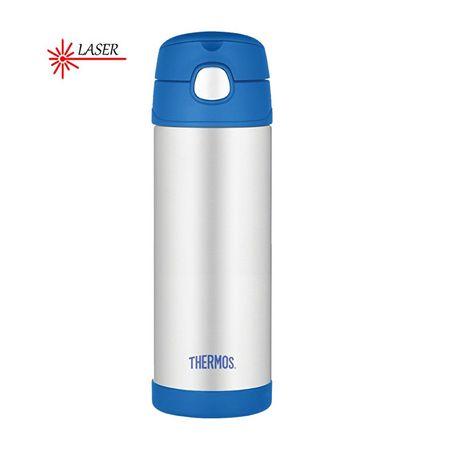 Thermos FUNtainer Baby termos ze słomką - niebieski 470 ml
