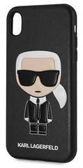 Karl Lagerfeld maska Ikonik TPU Case Black za iPhone XR KLHCI61IKPUBK