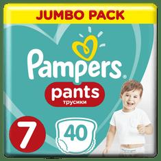 Pampers Pants 7 (17+ kg) Plenkové kalhotky 40 ks
