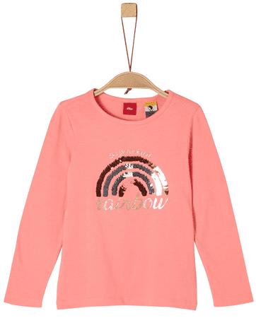 s.Oliver dívčí tričko 116 - 122 ružová