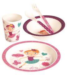 BINO Dětské nádobí zbambusu, set, 5 dílů, Tanečnice
