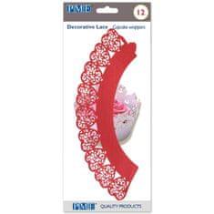 PME Ozdobný límec na košíčky srdce červená 12ks