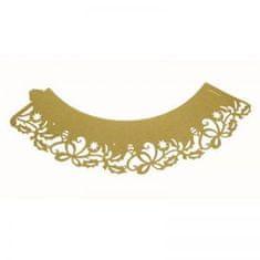 PME Ozdobný límec na košíčky zlatý vánoční 12ks