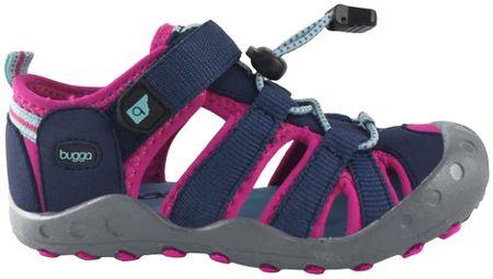 Bugga dekliški sandali, 27, rožnato modri
