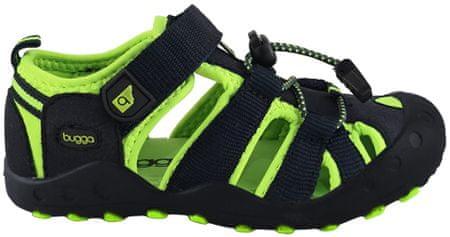 Bugga chlapecké sandály 27 černá/zelená
