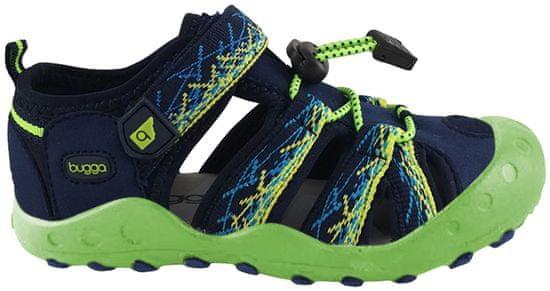 Bugga chlapecké sandály 27 modrá/zelená