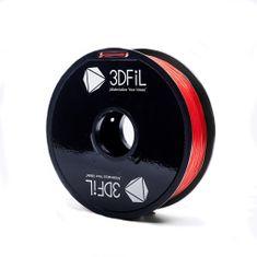 3DFiL PETG červená transparentní - 1,75 mm - 1kg