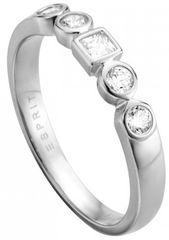 Esprit Srebrni prstan s kristali Flow ESRG005211 srebro 925/1000