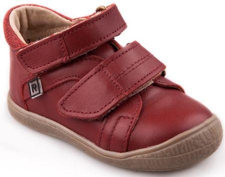 RAK dívčí kožené boty Kathleen 23 červená
