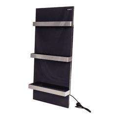 Keramický panel sušiak do kúpeľne STANDARD07 s reguláciou čierny