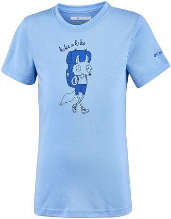 Columbia chlapecké triko Mini Ridge Tee 110 svijetlo plava
