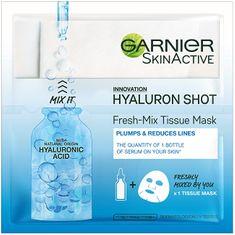 Garnier Textil arcmaszk hialuronsavval a hidratált és feszes arcbőrért (Fresh Mix Tissue Mask) 6 g