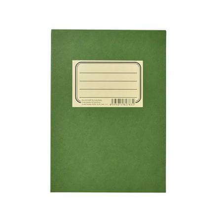 Blok poznámkový lepený Zelenáč A5 linky / bodky, 50 hárkov