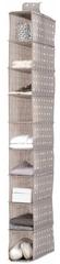 Compactor wiszący organizer do szafy Rivioli, 9 półek, brązowy
