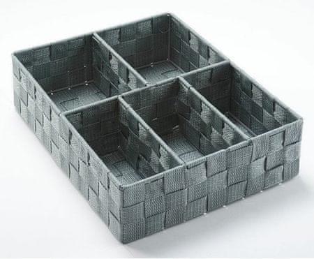 Compactor organizer na bieliznę i akcesoria TEX - 5 elementów, szary