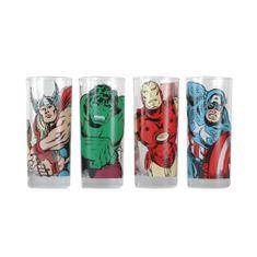 Sklenice Marvel (set 4 ks)