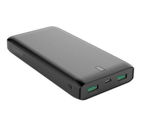Orico polnilna baterija 20.000 mAh, 2x USB, črna, FIREFLY-C20
