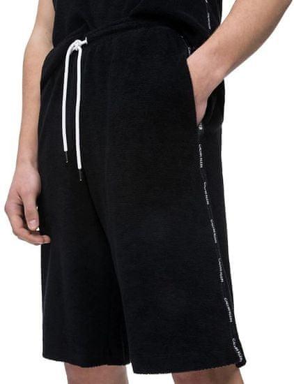 Calvin Klein Pánské kraťasy Towelling Short KM0KM00323-001 Black (Velikost M)