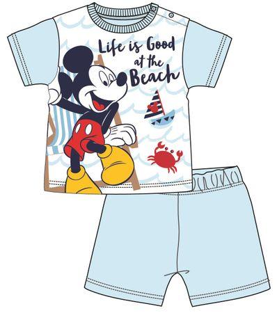 Disney by Arnetta chlapecké pyžamo Mickey Mouse 80 světle modrá