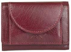 Lagen Skórzany mini portfel W-2030 Red