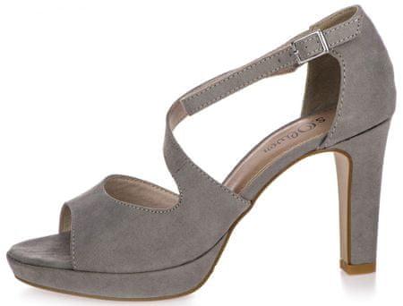 s.Oliver dámské sandály 38 šedá