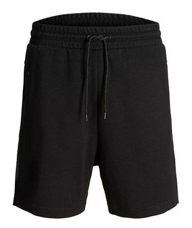 Jack&Jones Pánske kraťasy Clean Sweat Black (Veľkosť L)