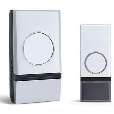 Solight vezeték nélküli ajtócsengő konnektorba, 200m, fehér, learning code