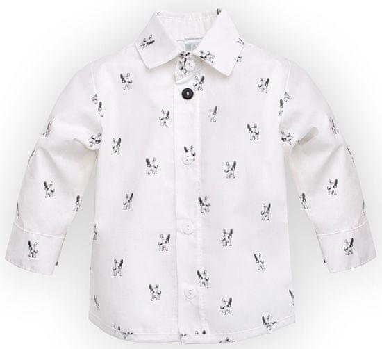 PINOKIO chlapecká košile Prince 86 biela
