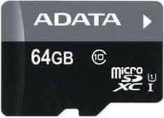 A-Data Premier micro SDXC karta 64GB UHS-I Class 10 + adaptér