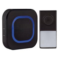 Solight bezdrátový zvonek, do zásuvky, 250m, černý, learning code