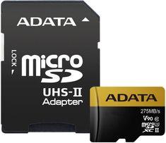 A-Data microSDXC Premier One 64GB UHS-II U3 + SD adaptér (AUSDX64GUII3CL10-CA1)