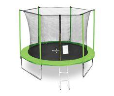 Legoni trampolin z zaščitno mrežo in lestvijo, 366 cm