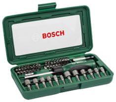 Bosch 46-dielna sada + račňový skrutkovač