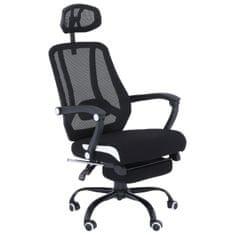 Kancelárska stolička, čierna sieťka/čierna, SIDRO