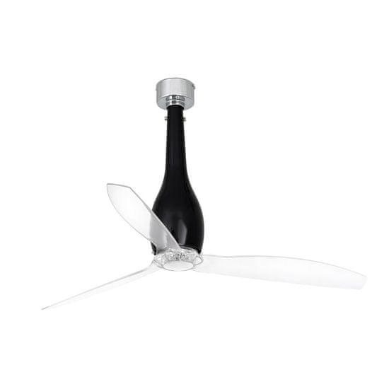 """FARO Barcelona ETERFAN 32002 50,4"""" černá lesk/transparentní Reverzní stropní ventilátor"""