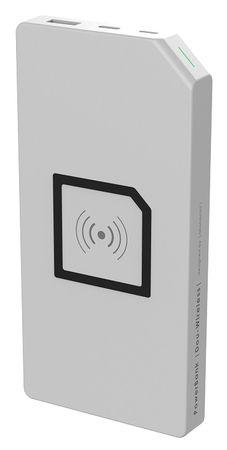 Allocacoc PowerBank Duo-Wireless prenosna baterija, bela