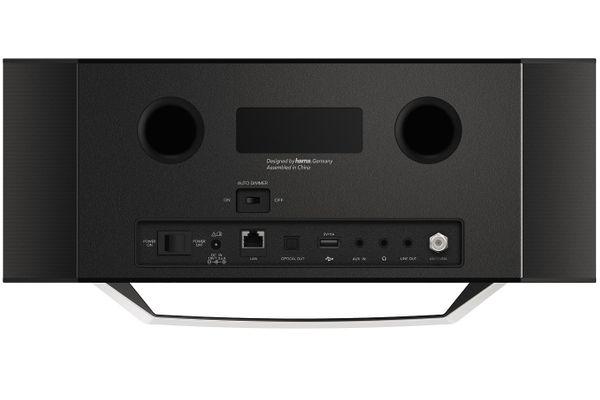 Bluetooth bezdrátové rádio hama dir30505mscbt ovládání tlačítky dálkový ovladač výkon 40 W vyvážené tóny zvuková kvalita lcd barevný displej amazon alexa
