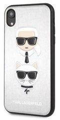 Karl Lagerfeld maska Karl and Choupette Silver Hard Case KLHCI61KICKCSSI za iPhone XR
