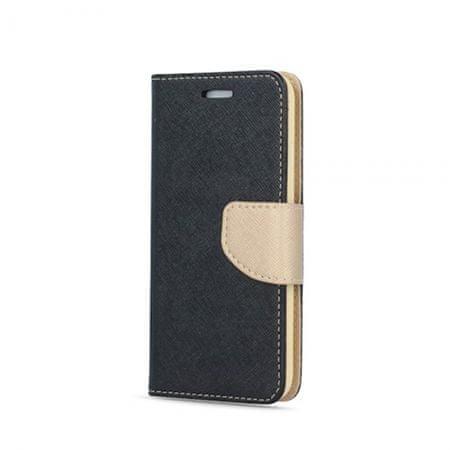 Havana preklopna torbica Fancy Samsung Galaxy A7 2018 A750 - črno zlata