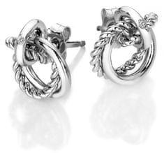 Hot Diamonds Strieborné náušnice s pravým diamantom Jasmine DE610 striebro 925/1000