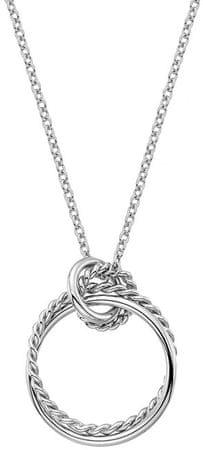 Hot Diamonds Srebrna ogrlica s pravim diamantom Jasmine DP735 srebro 925/1000