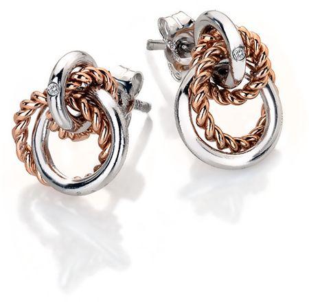 Hot Diamonds Srebrni uhani s pravim diamantom Jasmine RG DE611 srebro 925/1000