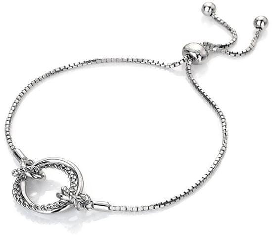 Hot Diamonds Strieborný náramok s pravým diamantom Jasmine DL594 striebro 925/1000