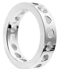 Morellato Oceľový prsteň so srdiečkami S0R07
