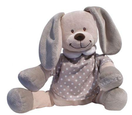 Babiage plišasti pripomoček za spanje DooDoo, zajček, bež s pikicami - Odprta embalaža