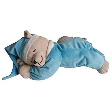 Babiage ek za spanje DooDoo, speči medvedek, z lučko, svetlo moder